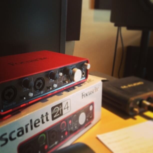 focusrite scarlett and m-audio fast track pro
