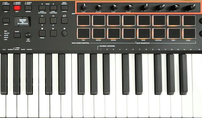 M-Audio Oxygen Pro 49 - KNOBS AND DRUM PADS